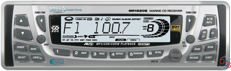 Boss Audio MR1620S Marine CD MP3 Receiver Silver with