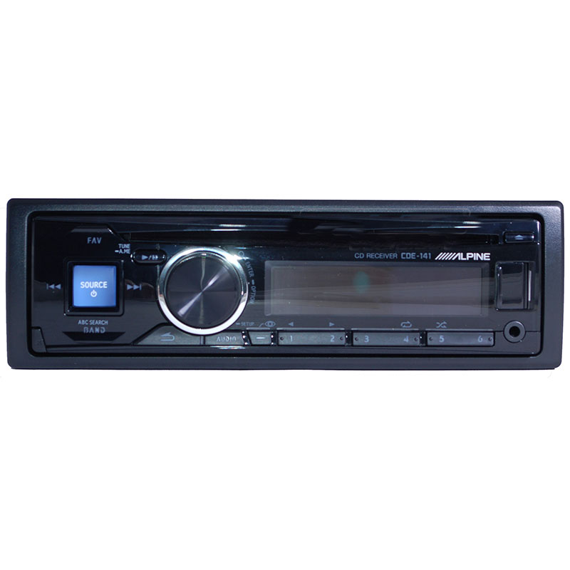 Single-DIN In-Dash CD/MP3 Receiver With
