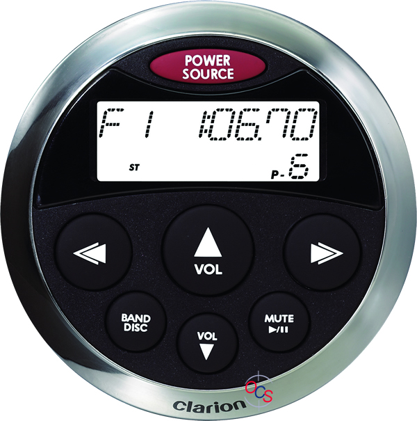 Clarion Cmrc1 Bss Marine Wired Remote Control With Lcd