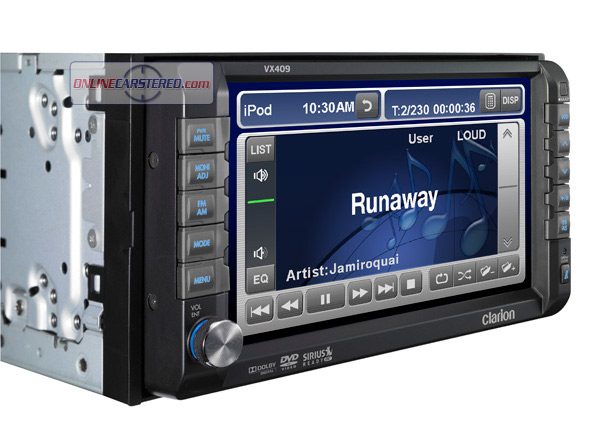 Clarion Car Stereo: Clarion VX409 2-DIN DVD Multimedia Station With 6.5-inch