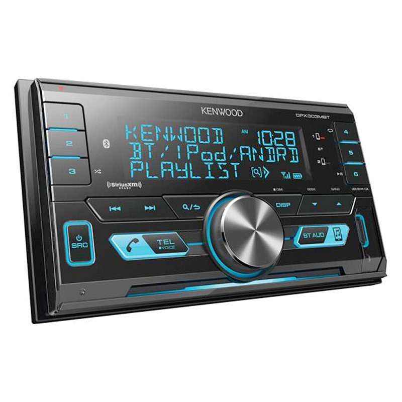 kenwood dpx303mbt double din 200 watts power in dash. Black Bedroom Furniture Sets. Home Design Ideas