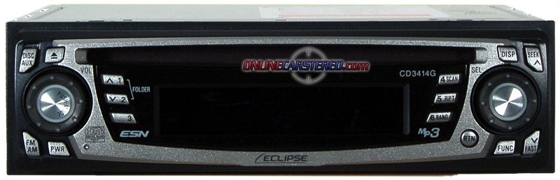 Eclipse CD3414 CD/MP3 Reciever With Rear Aux Input At