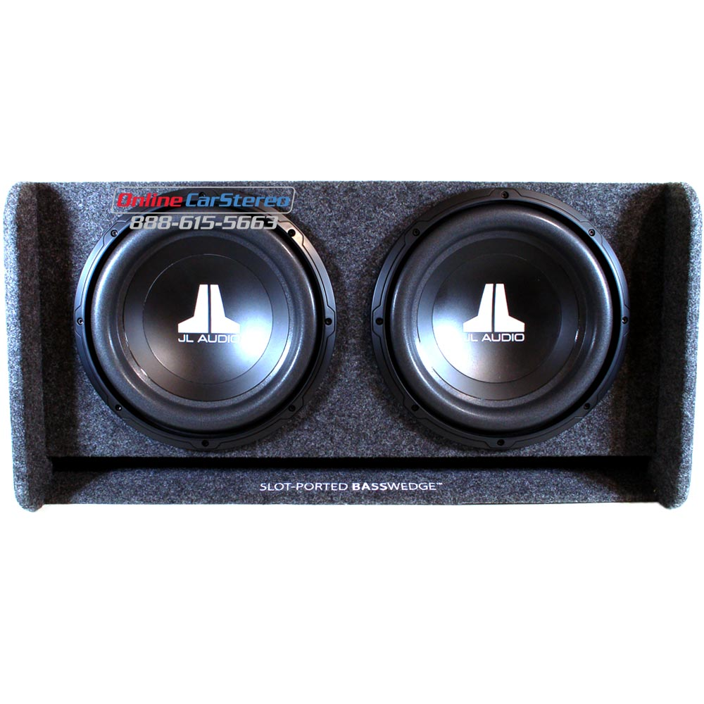 Jl audio cp212 w0v2 slot ported basswedge subwoofer for L ported speaker box