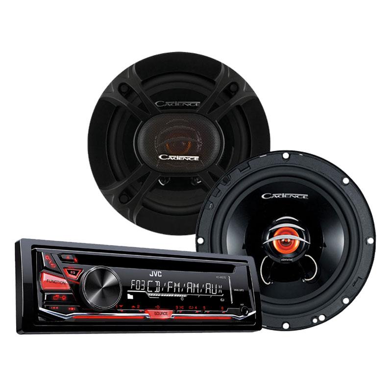 JVC KD-R370-PKG JVC KD-R370 Single DIN In-Dash CD/AM/FM