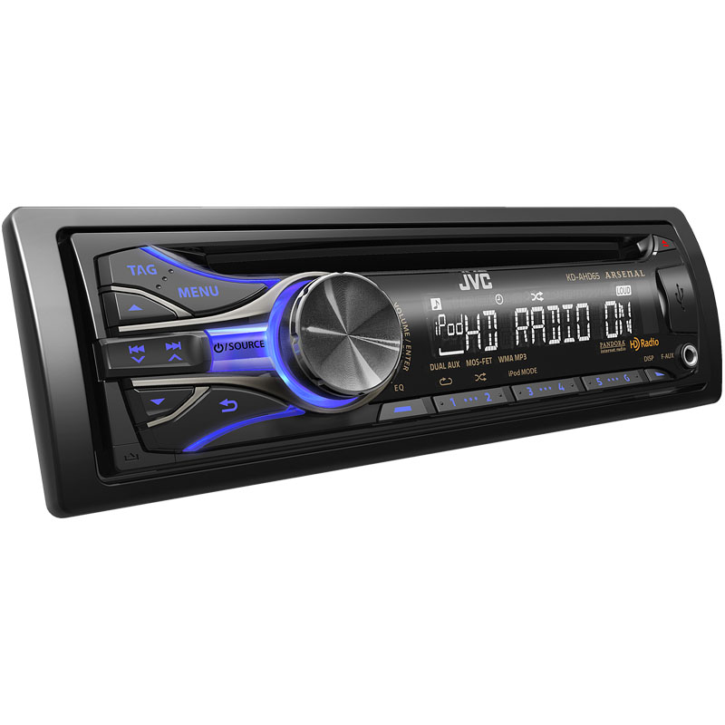 jvc kd ahd65 single din in dash arsenal series cd receiver with front panel usb aux inputs. Black Bedroom Furniture Sets. Home Design Ideas