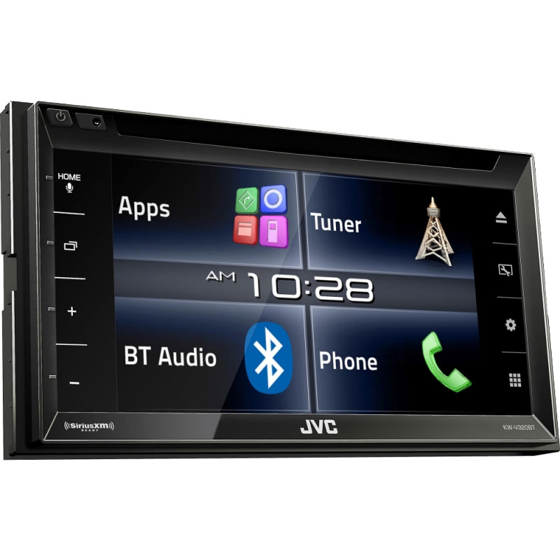 jvc kw v320bt 6 8 double din bluetooth in dash cd. Black Bedroom Furniture Sets. Home Design Ideas