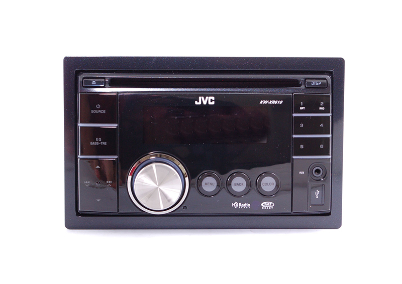 jvc kw xr610 double din in dash cd receiver with ipod. Black Bedroom Furniture Sets. Home Design Ideas