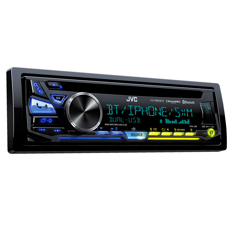 JVC KD-R985BTS Single DIN CD Car Stereo With Bluetooth And