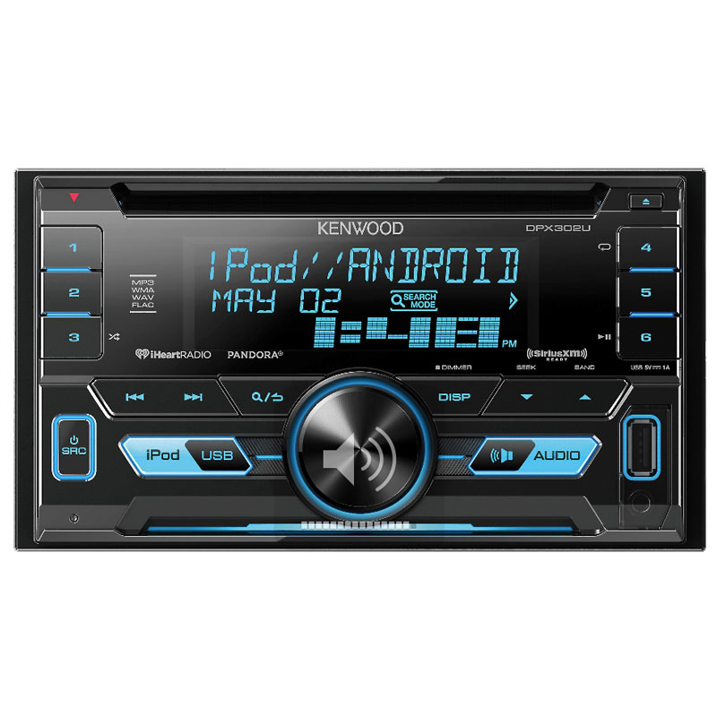 kenwood dpx302u double din cd receiver aac wma wav mp3. Black Bedroom Furniture Sets. Home Design Ideas