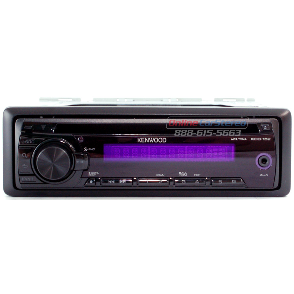 Kenwood Kdc 152 P Single Din In Dash Cd Mp3 Wma Receiver With Front Aux Input P At Ocsdeals Com