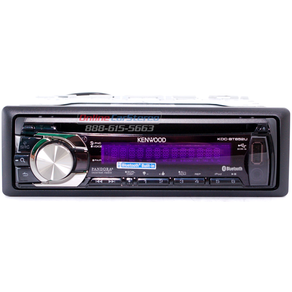 Kenwood KDC-BT652U Single-DIN In-Dash CD/MP/WMA Receiver ...