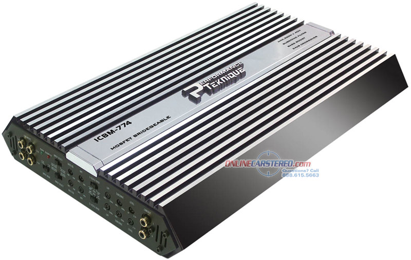 performance teknique icbm 774 1000w 4 channel bridgeable power amplifier at ocsdeals