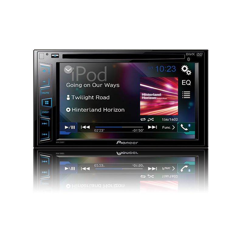 pioneer avh 290bt double din bluetooth in dash dvd cd am. Black Bedroom Furniture Sets. Home Design Ideas