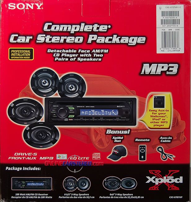 Sony CXS-GT07HP CD/MP3 Receiver With Two Pairs Of Speakers