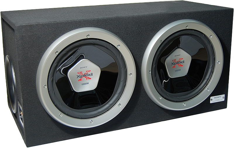 Sony Xs Sl B D Nw on Pyle 12 Inch Dual Subwoofer Box