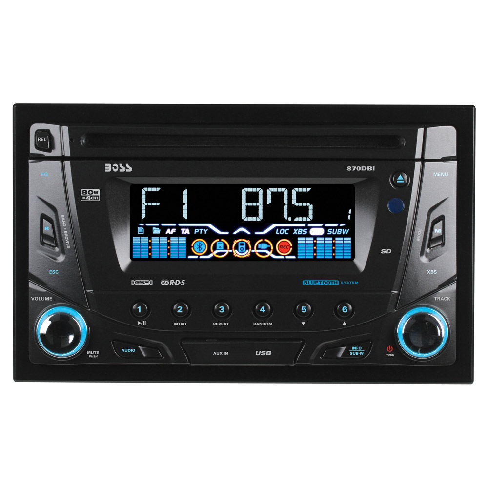Boss Audio 870dbi Double Din Cd Usb Sd Mp3 Fm Am Player With Bazooka And Stereo Wiring Diagram Tap To Expand