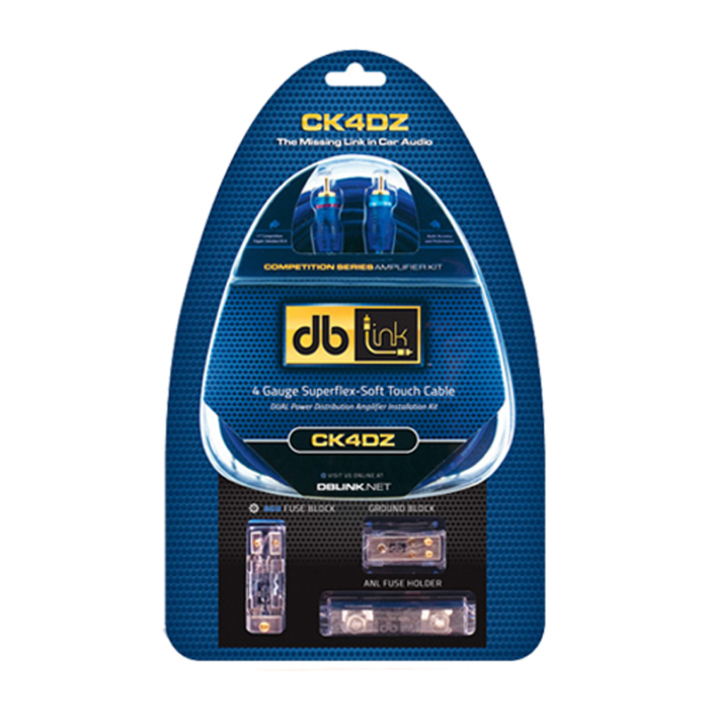 Db Link Pk4z 4 Gauge Power Series Amp Installation Kit: DB Link CK4DZ Competition Series 2000-Watt Deluxe 4 Gauge