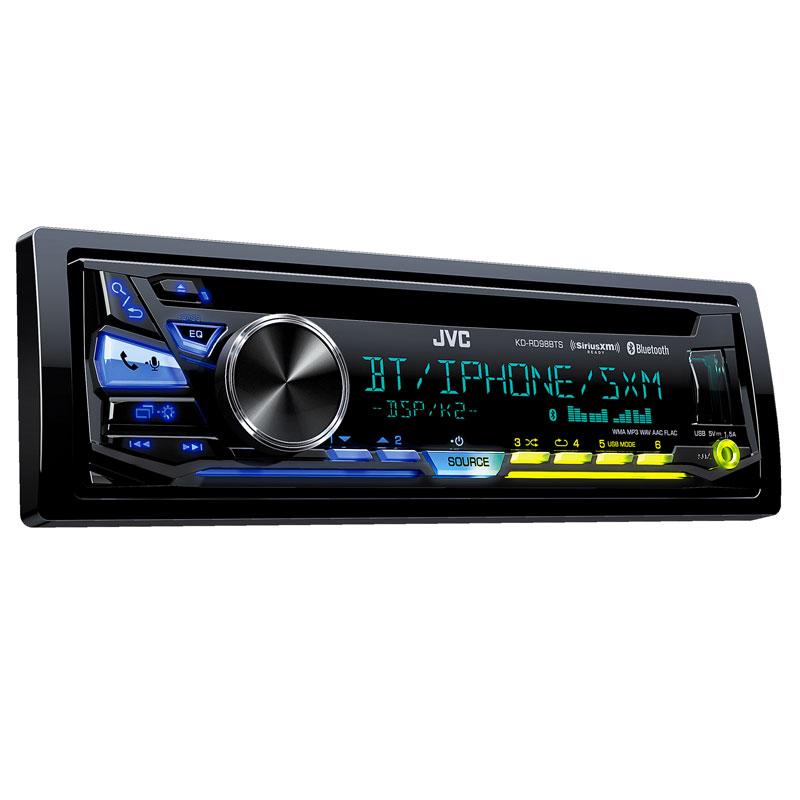 JVC KD-RD98BTS Single DIN Bluetooth In-Dash CD/AM/FM Car