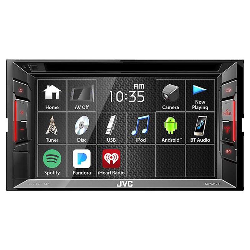 "JVC KW-V240BT Double DIN 6.2"" Bluetooth In-Dash DVD/CD/AM"