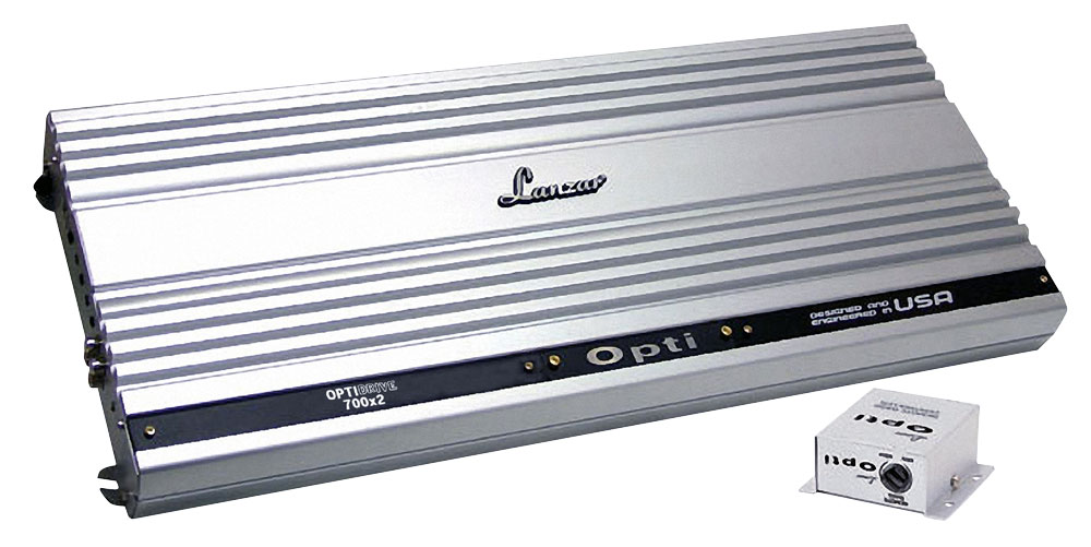 Lanzar OPTI500X2 1000 Watt Max Power, 2 Channel Competition