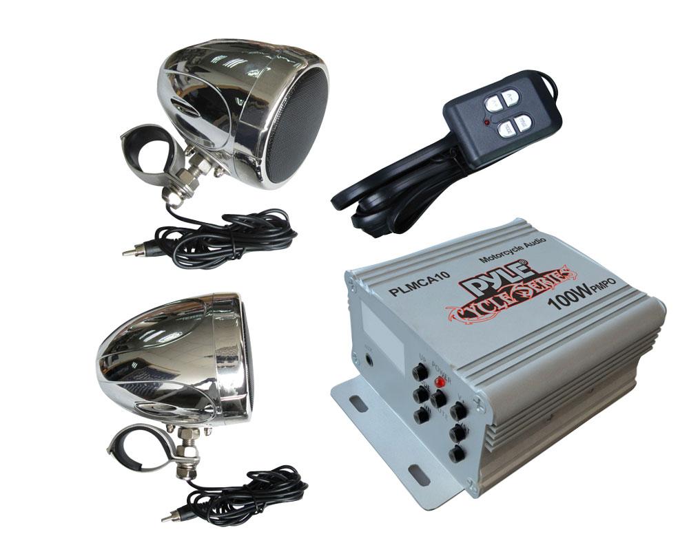 Pyle PLMCA10 100W Motorcycle/ATV/Snowmobile Mount MP3