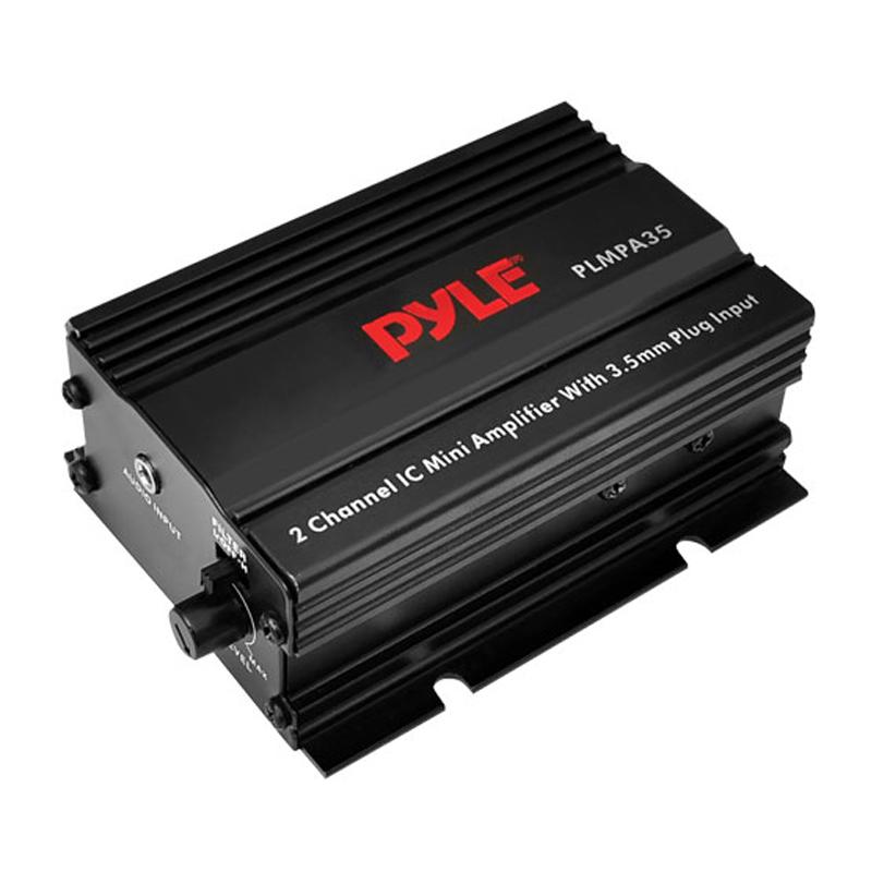 Pyle PLMPA35 300W 2-Channel Mini Amplifier With 3.5mm