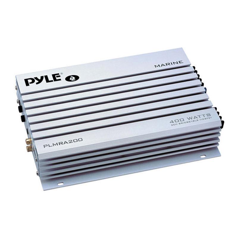 Pyle PLMRA200 400W 2-Channel Bridgeable Marine Amplifier