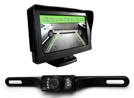Rear View Mirror/Screen (with Backup camera)
