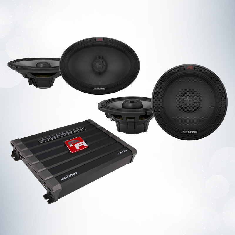 Power Acoustik CB4-1200-Bundle