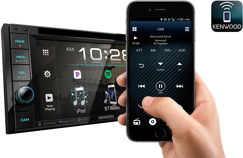 Control the Receiver from your Kenwood Smartphone with the Kenwood Remote App