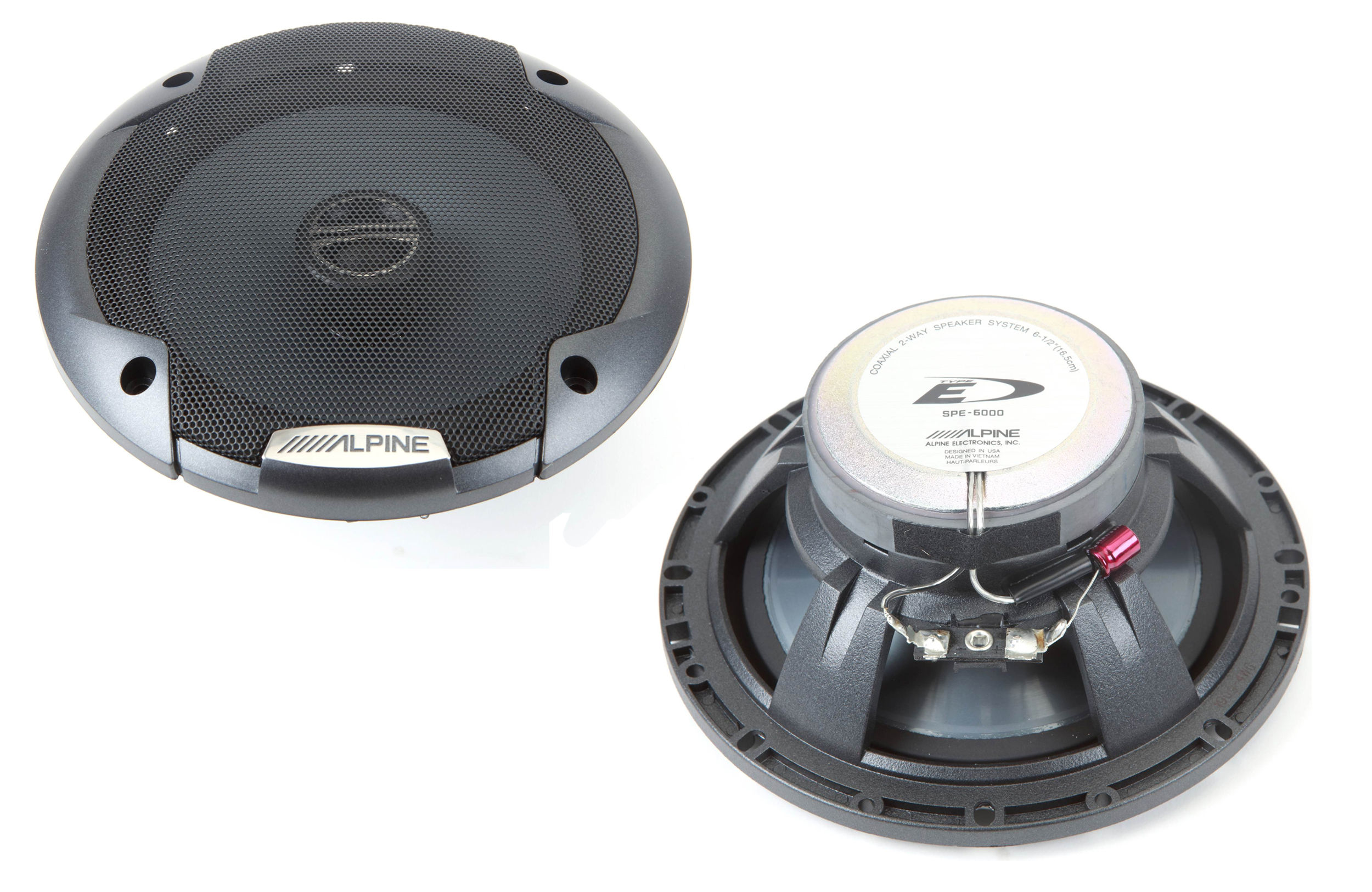 Alpine SPE-6000 6-1/2 inch 200 Watts 2-Way Type E Coaxial Car Speaker System