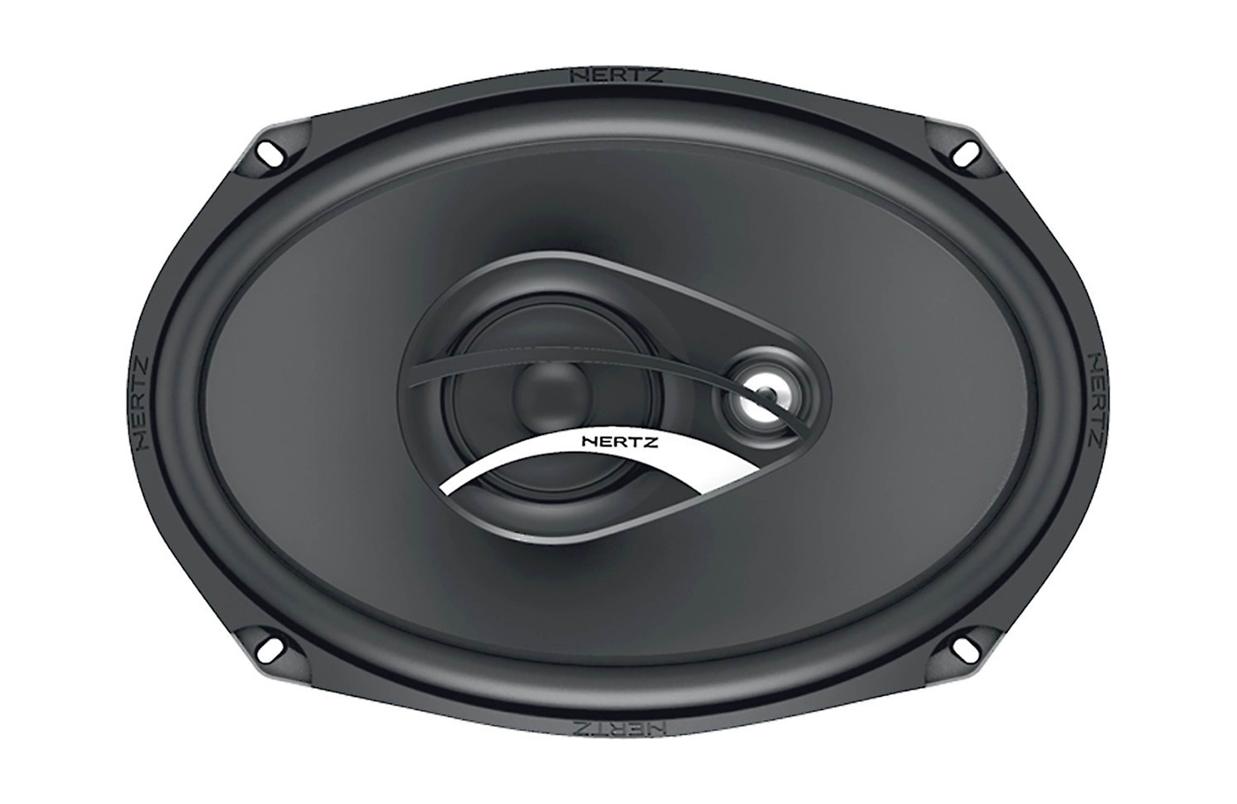 Hertz DCX690.3 6X9 inch 90W RMS (180W Peak Power) 4-ohm Impedance 3-Way Coaxial Speakers