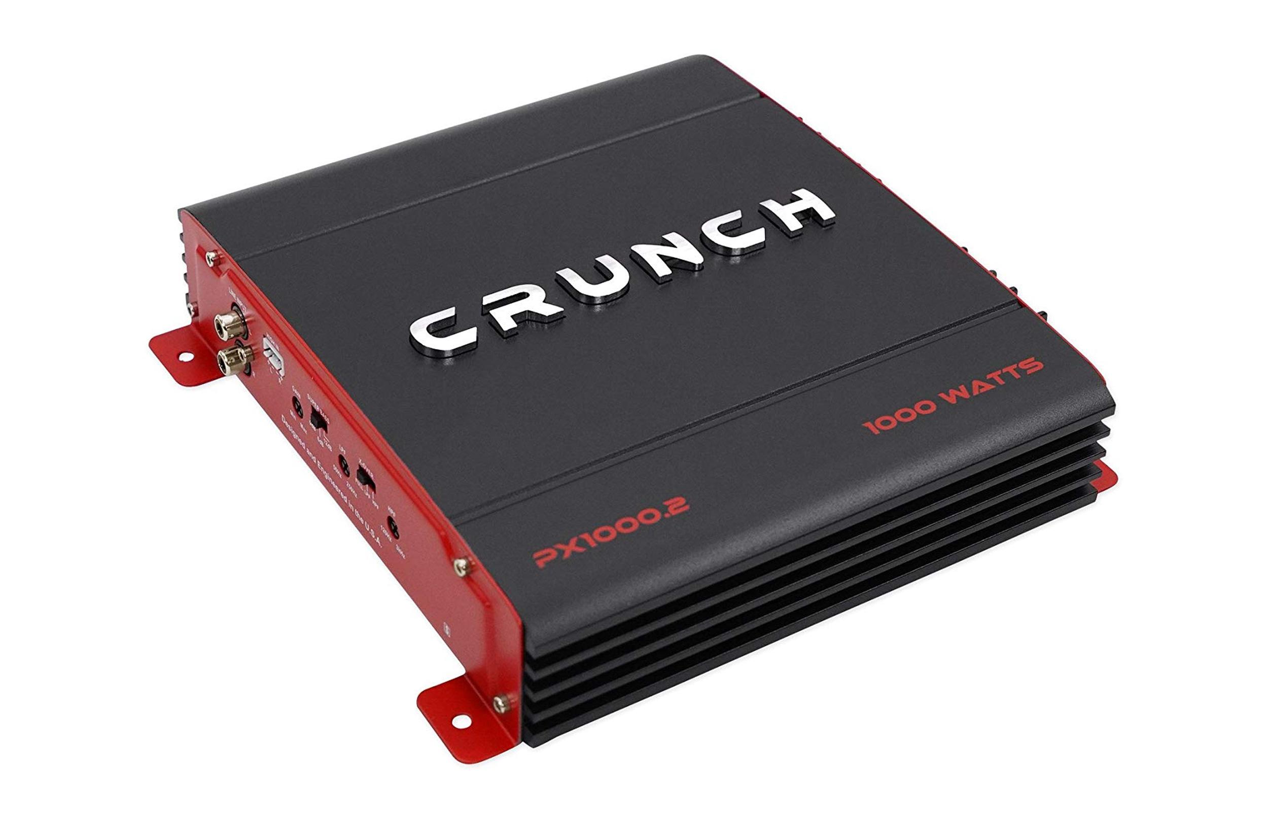 Crunch PX1000.2 1000 watt two channel car audio amplifier.